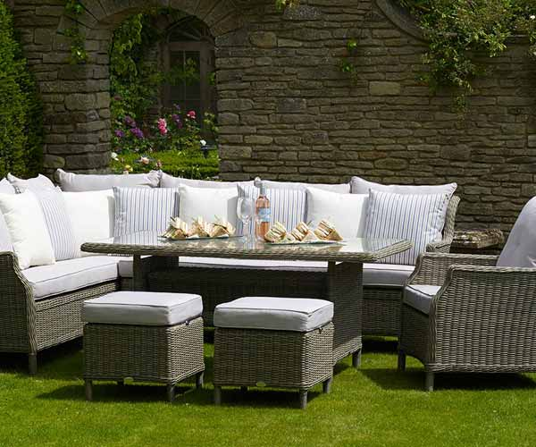 Bramblecrest Oakridge Casual Rectangle Modular garden furniture set